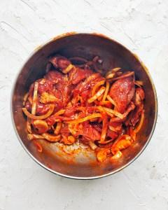 Spicy Korean Pork, marinade