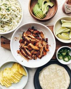 Gochujang Chicken Tacos, ingredients