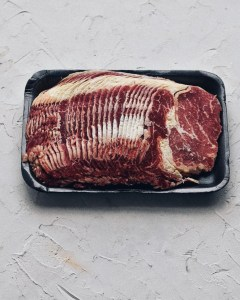 thinly slice rib eye for bulgogi
