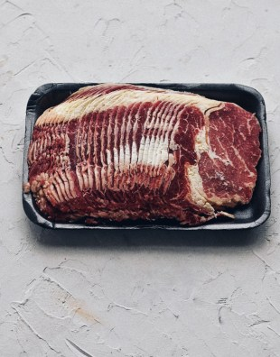 package of thinly sliced beef rib eye