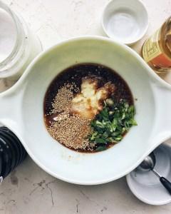 korean beef bulgogi marinade in bowl