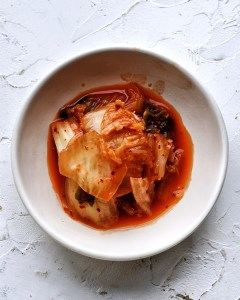 well fermented kimchi in a bowl