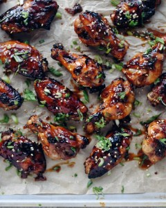 chicken wings on a tray
