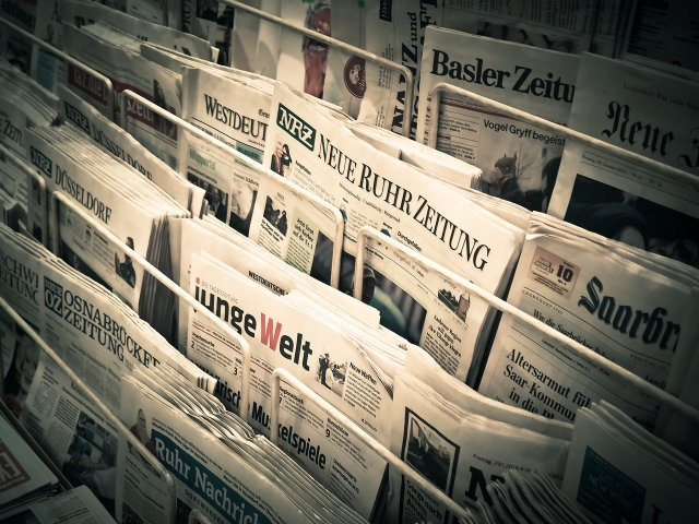 Newspapers are a form of Print Media which provides good career opportunities