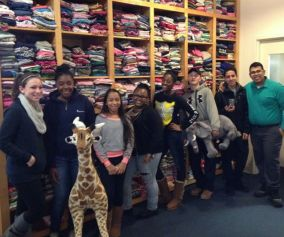 Performing community service at Room to Grow