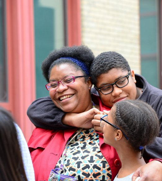 Families celebrating at Steppingstone's 2015 welcome event