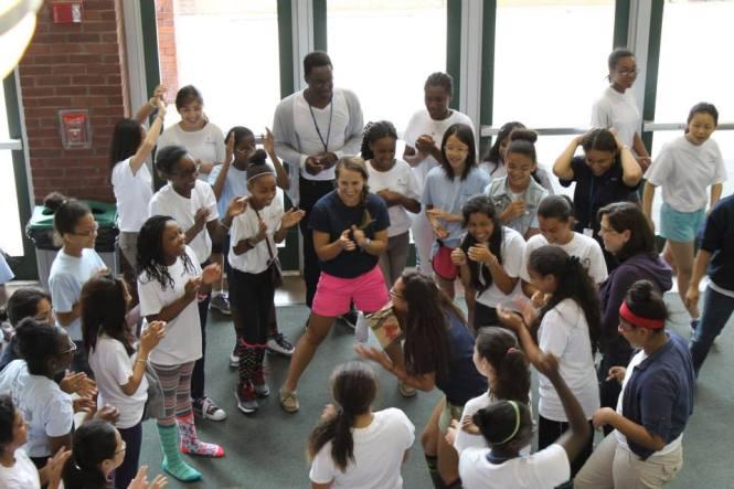"2013 - ""Bite the Bag"" championship at Steppingstone's Scholar retreat"