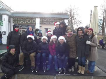 2013 - Braving another freezing winter to keep Steppingstone's ice skating tradition alive
