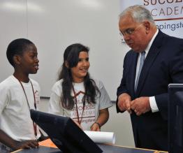 2012 - Mayor Menino visits Scholars at the College Success Academy
