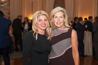 Steppingstone Board Members Christina Wing O'Donnell and Isabelle Loring.