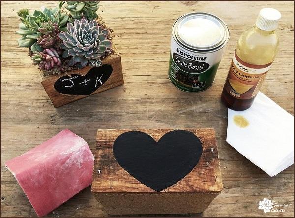 chalkboard heart with blackboard paint on reclaimed wood