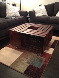 DIY Crate Coffee Table - The Su Chef