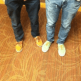 "Boat shoes: These are great alternatives to casual sneakers, for a more modern look. ""I bought my shoes from Uptown Cheapskate for 23 bucks""-Chris Krauss, Junior (right)"