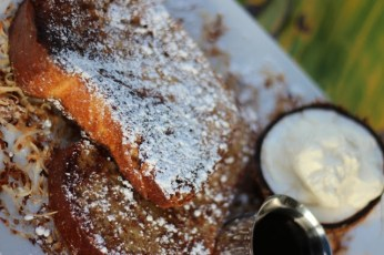 coconut french toast via the crucian contessa