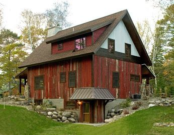 red and brown house exterior