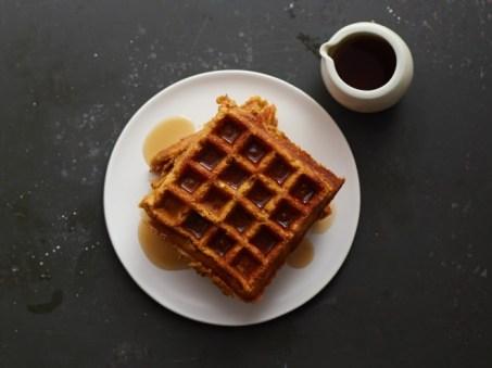 pumpkin oat waffles