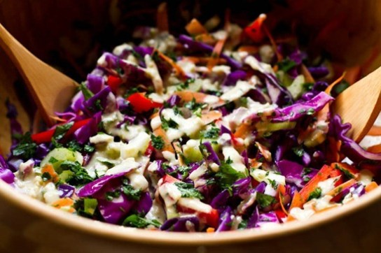 cabbage salad via oh she glows
