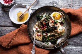hazelnut crepes with wild mushrooms kale and goat cheese via half baked harvest