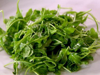 green salad with lemon vinaigrette via ina garten