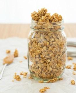 4 ingredient peanut butter granola via kristine's kitchen blog