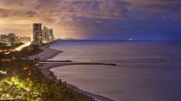 st regis bal harbour beach at dusk via st regis bal harbour