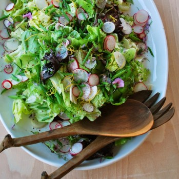 spring greens with tarragon and radishes* via drumbeets