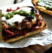 grilled chicken melt with pesto via foodie with family
