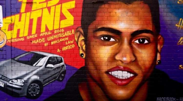 Mural in Melbourne of Tej Chitnis and his missing Car