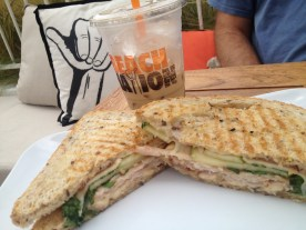 beach nation_turkey panini and iced latte