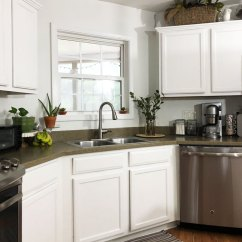 Kitchen Sink Without Cabinet Glass Doors How To Paint Cabinets Sanding The Summery Umbrella