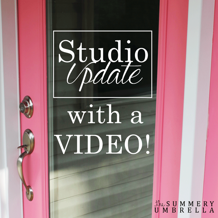 You will not want to miss out on this studio update with a video!