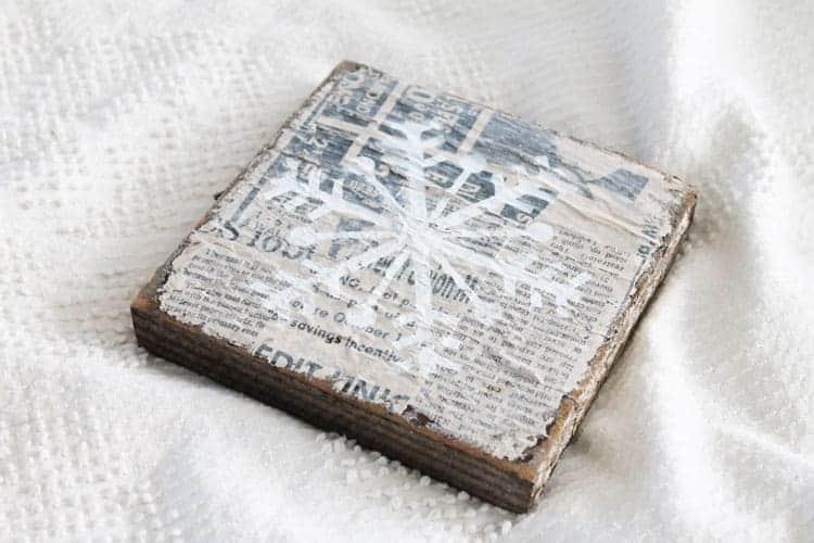DIY Vintage Snowflake Sign