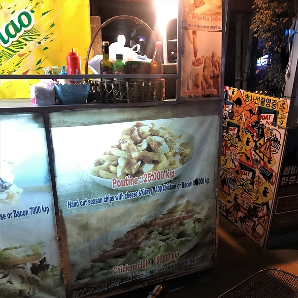 Poutine in Vang Vieng What $40 per day can get you in Laos