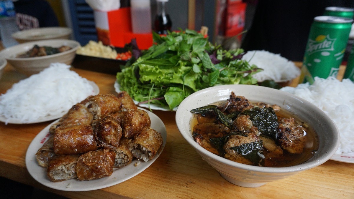 Bun cha in Hanoi Budget Breakdown Travelling as a Couple in Vietnam
