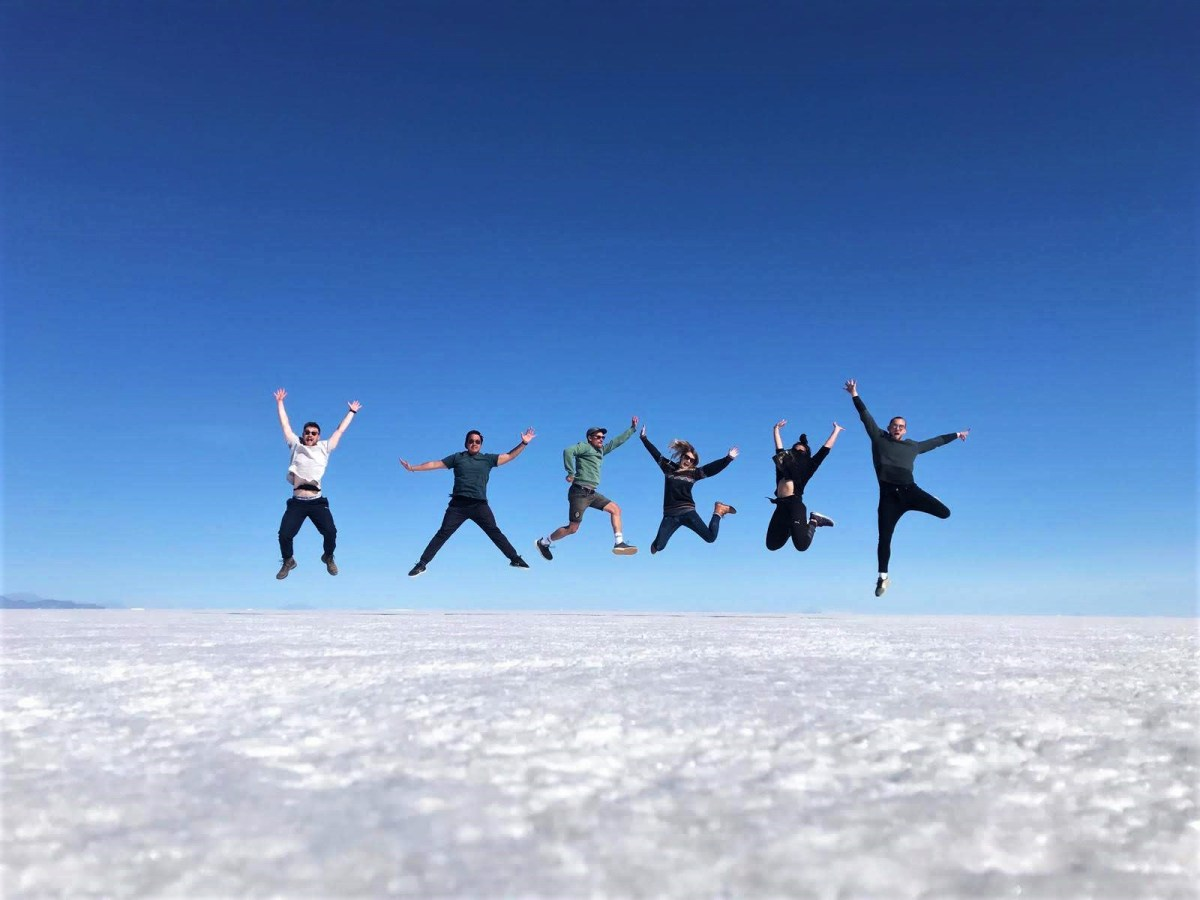 group-shots-at-Uyuni-Salt-Flats-Budget-Breakdown-The-Cost-of-Travelling-Bolivia