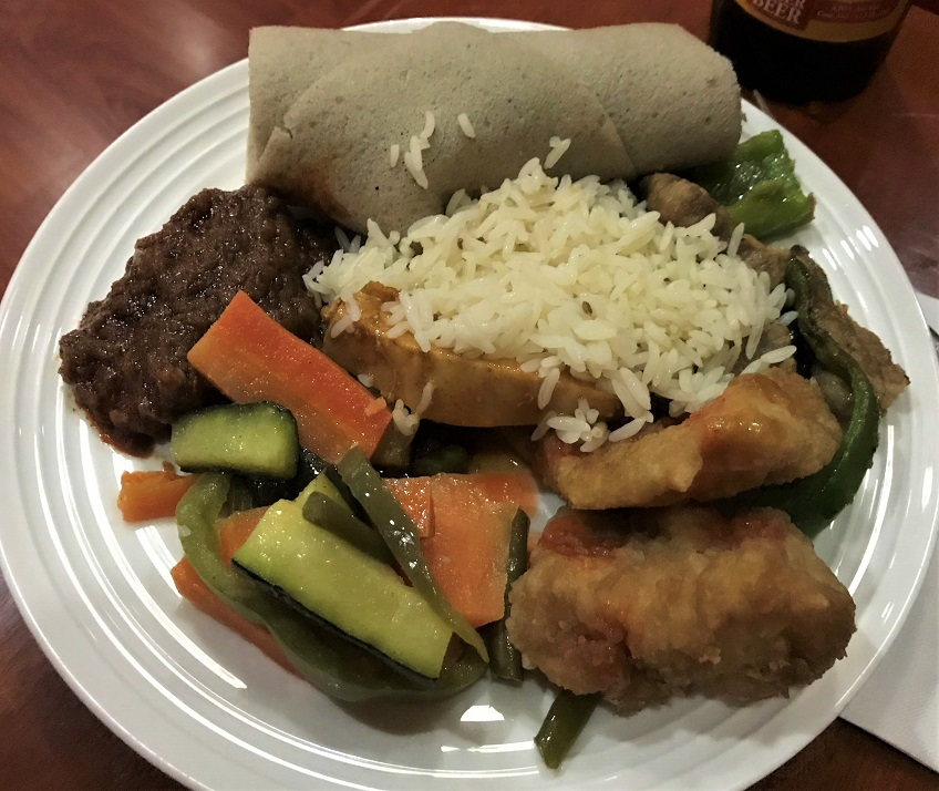 Cloud Nine Lounge Food Review Ethiopian Airlines Business Class Addis Ababa to Tokyo