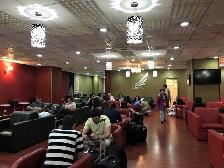 Interior Cloud Nine Lounge 2 Review Ethiopian Airlines Business Class Addis Ababa to Tokyo