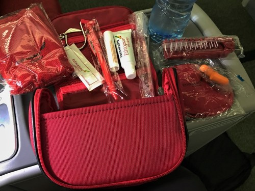 Amenity kit Review Ethiopian Airlines Business Class Addis Ababa to Tokyo