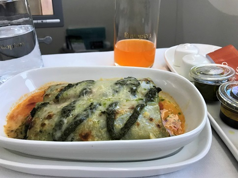 Canneloni Review Ethiopian Airlines Business Class Addis Ababa to Tokyo