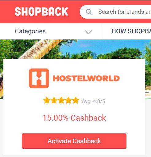 Shopback-Hostelworld-cashback