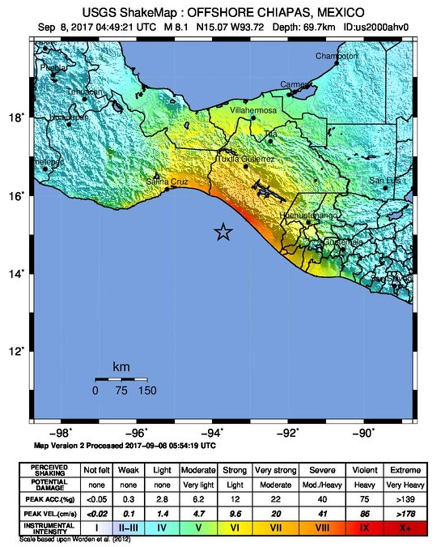 Mexico City Earthquake Map : mexico, earthquake, Where, Mexico, Earthquake, Strike,, Magnitude, Latest, Tsunami, Warning?