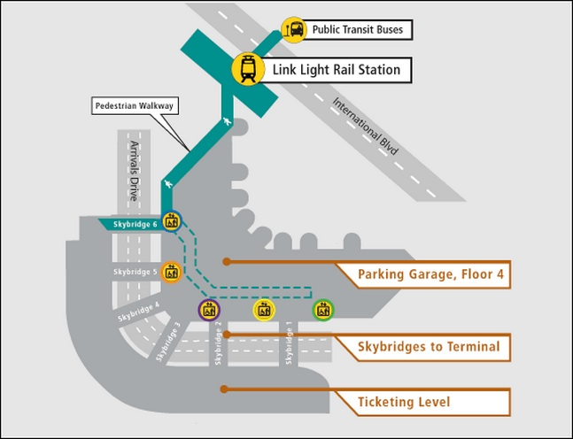 How to Get to the Light Rail at SeaTac Airport (Video)