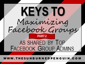 Keys To Maximizing Facebook Groups as shared by Top Facebook Group Admins - Part Two