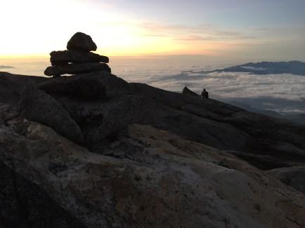Dawn rises above Kinabalu.