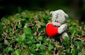 bear hugging a heart