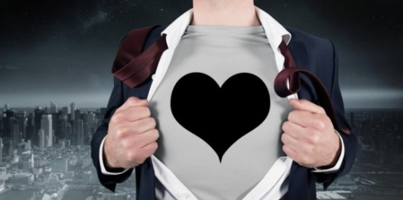 super hero love heart