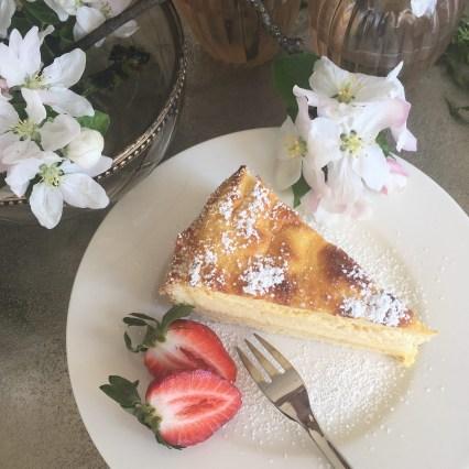Cheesecake, gebackener Topfenkuchen, lust auf kuchen