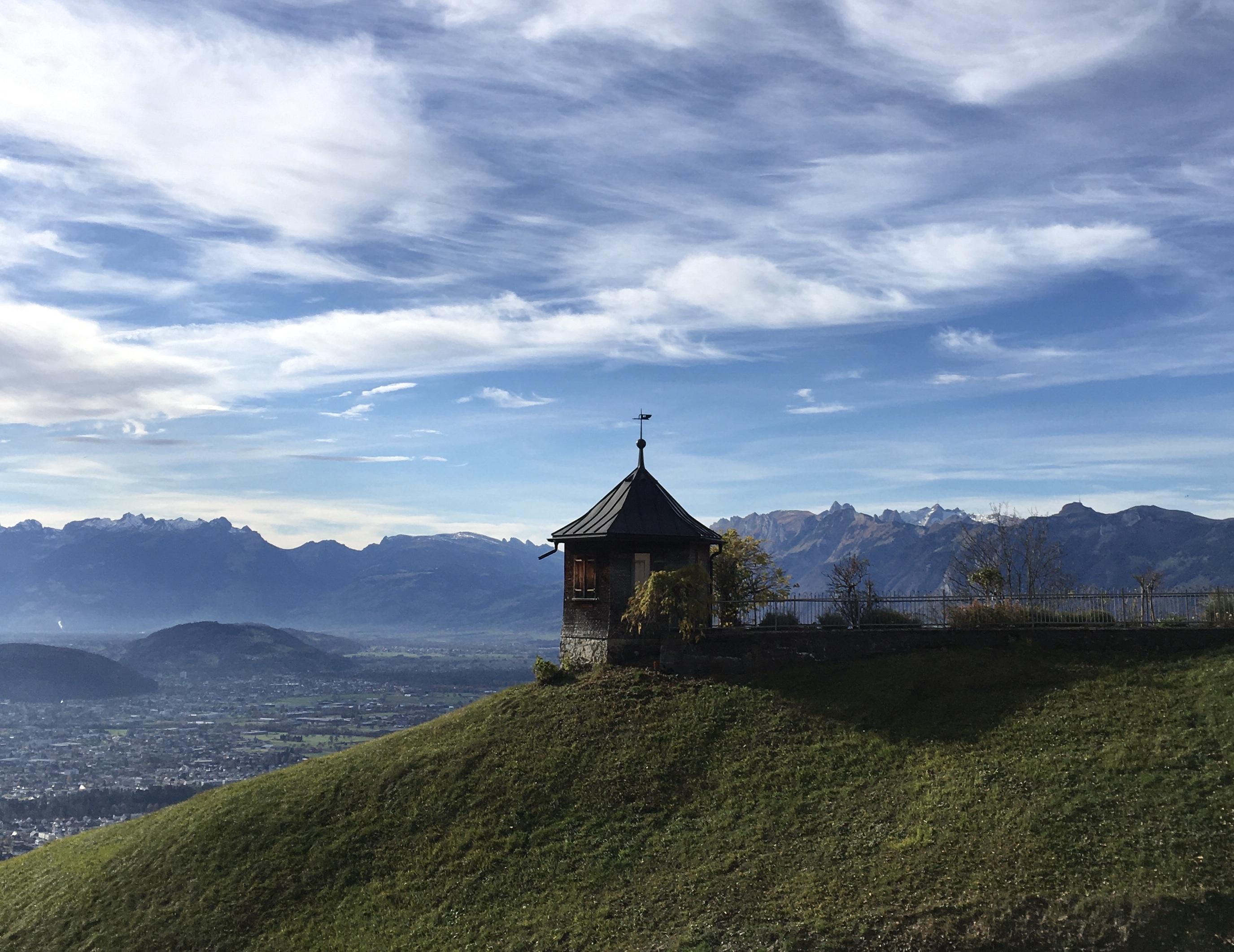 Viktorsberg, Ausblick aufs Rheintal