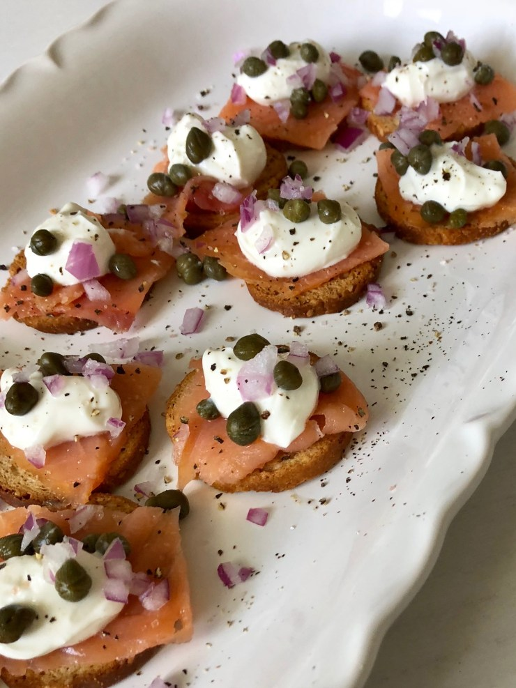 Smokes Salmon appetizer recipe