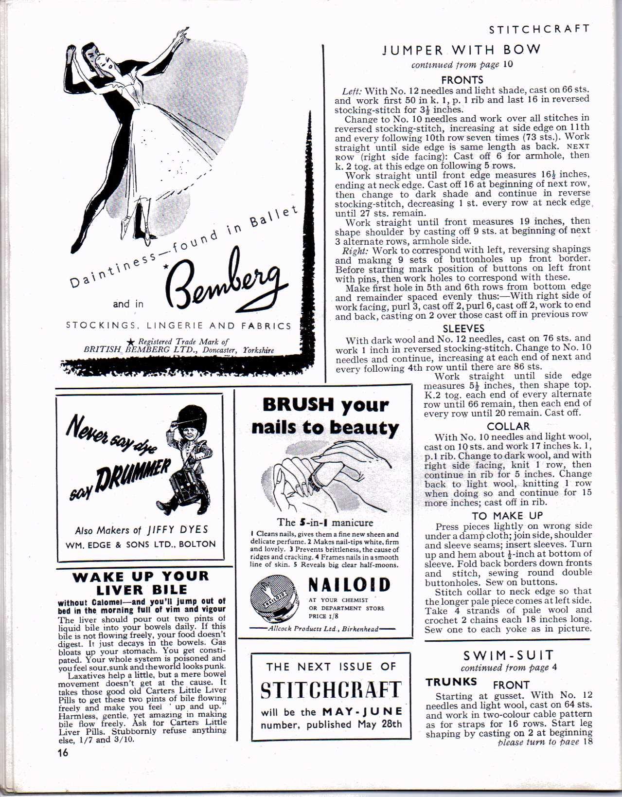 Free Vintage Knitting Magazine